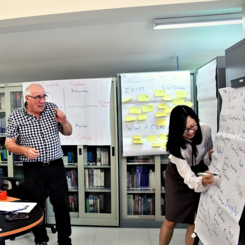 Chris Bothams, Organisational Development Mentor, Center for the Study of Humanitarian Law, at the Royal University of Law and Economics, Phnom Penh.