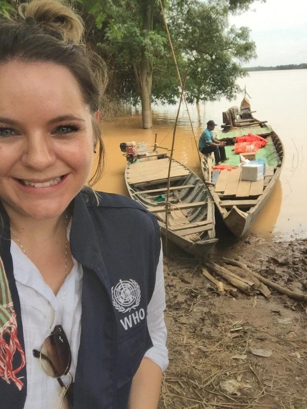 Australian volunteer Stephanie Wheeler in Cambodia