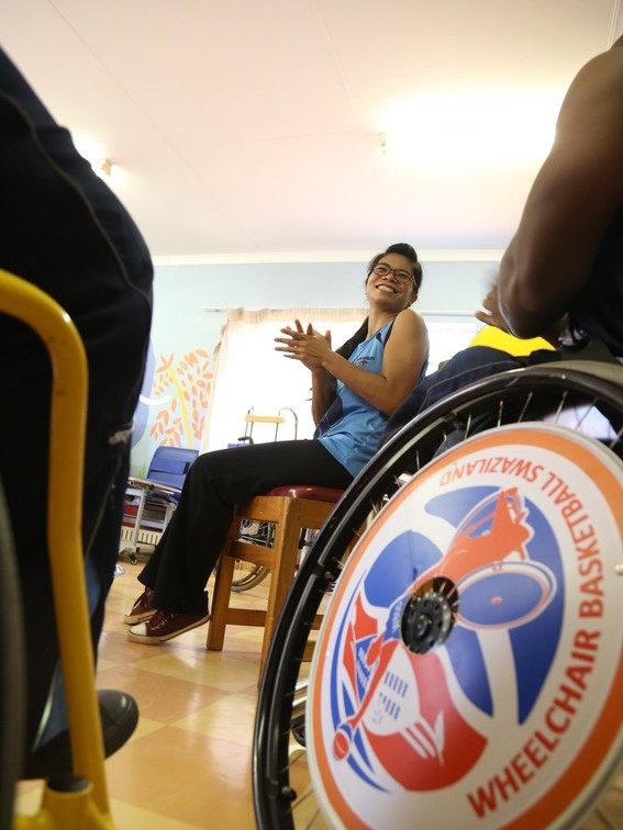 Jo wheelchair portriat