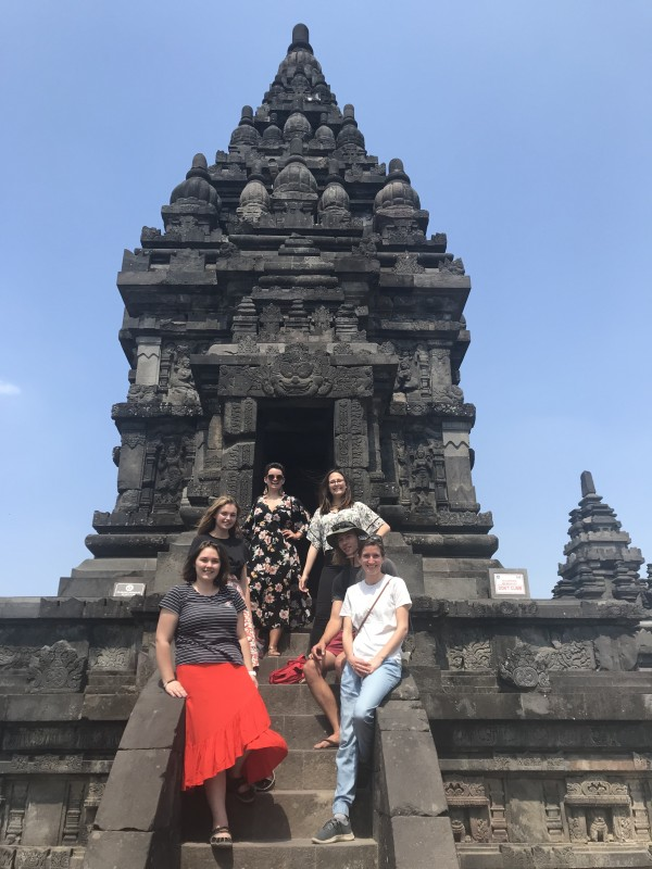Prambanan Temple in Yogyakarta with fellow Australian volunteers. Supplied: Sian Bullingham