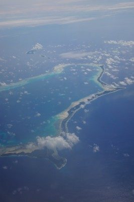 Aerial shot of Majuro, Marshall Islands