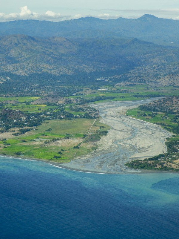 Aerial view of Lospalos and Dili Timor Leste