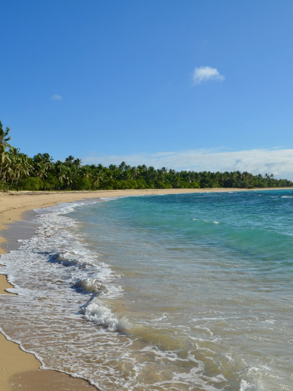 Photo of a Tongan beach taken by Madeleine Legge